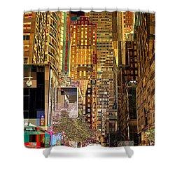 45th Street Redux Shower Curtain by Miriam Danar