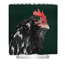 47. Bearded Hen Shower Curtain