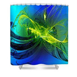 Shower Curtain featuring the digital art 47 by Jeff Iverson