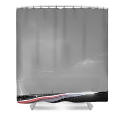 47 Street Lightning Storm Light Trails View Bwsc Shower Curtain by James BO  Insogna