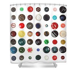 49 Buttons Shower Curtain