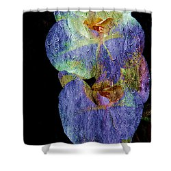 Orchids In Blue Violet Shower Curtain