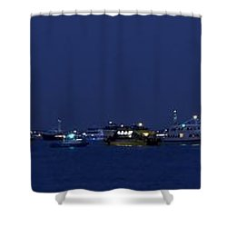 4th Of July Flotilla On The Hudson Shower Curtain by Lilliana Mendez