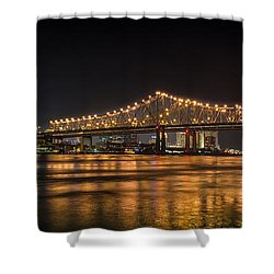 4th Of July Over The Big Easy Part Deaux Shower Curtain by David Morefield