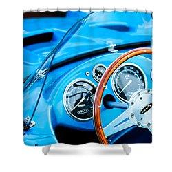 1959 Devin Ss Steering Wheel Shower Curtain by Jill Reger
