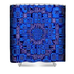 Abstract 119 Shower Curtain by J D Owen