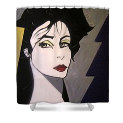 Shower Curtain featuring the painting Art Deco by Nora Shepley