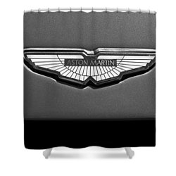 Aston Martin Emblem Shower Curtain by Jill Reger