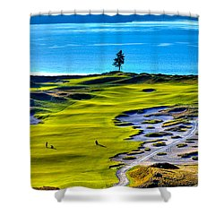 #5 At Chambers Bay Golf Course - Location Of The 2015 U.s. Open Tournament Shower Curtain by David Patterson