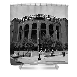 Busch Stadium - St. Louis Cardinals Shower Curtain by Frank Romeo