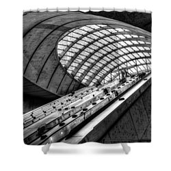 Canary Wharf Station Shower Curtain
