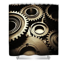 Cogs No2 Shower Curtain