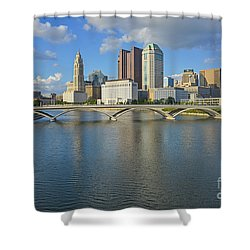 Fx1l-802 Columbus Ohio Skyline Photo Shower Curtain