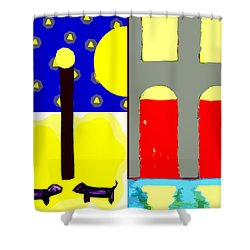 Dogs Shower Curtain by Patrick J Murphy