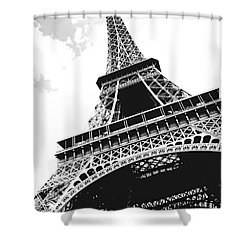 Eiffel Tower Shower Curtain by Elena Elisseeva
