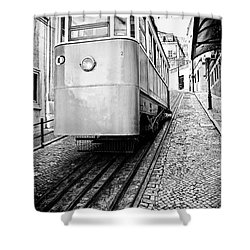 Gloria Funicular Shower Curtain by Jose Elias - Sofia Pereira