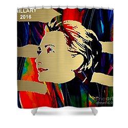 Hillary Clinton Gold Series Shower Curtain by Marvin Blaine