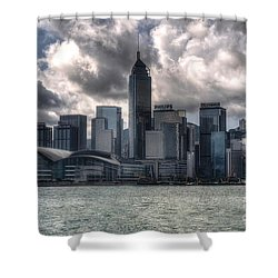 Shower Curtain featuring the photograph Hong Kong Harbour by Joe  Ng