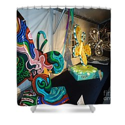 Le Mileau Mode Shower Curtain by Genevieve Esson