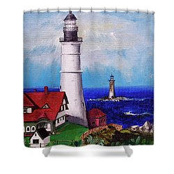 Lighthouse Hill Shower Curtain