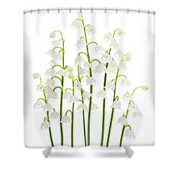 Lily-of-the-valley Flowers  Shower Curtain by Elena Elisseeva