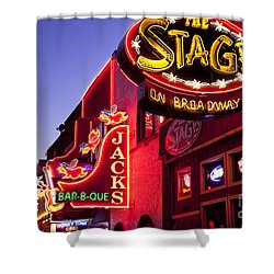 Music City Usa Shower Curtain by Brian Jannsen