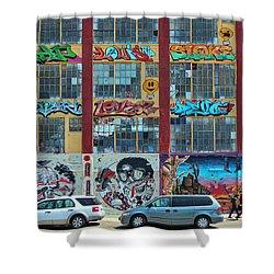 5 Pointz Graffiti Art 10 Shower Curtain
