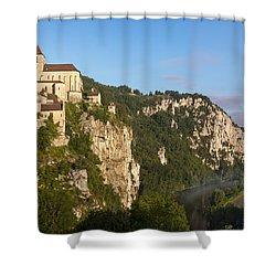 Saint Cirq Lapopie Shower Curtain by Brian Jannsen