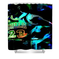 Shower Curtain featuring the digital art 5 Seconds Left by Brian Reaves