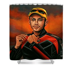 Valentino Rossi  Shower Curtain by Paul Meijering