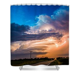 Wicked Good Nebraska Supercell Shower Curtain