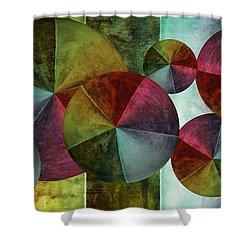 5 Wind Worlds Shower Curtain