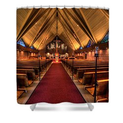 Woodlake Lutheran Church Shower Curtain