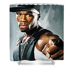 50 Cent Artwork 2 Shower Curtain