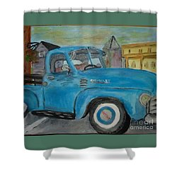 50 Chevy In Tannersville Shower Curtain