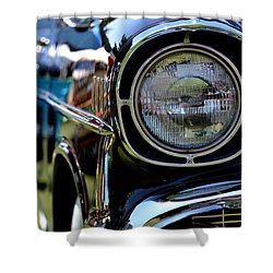 Shower Curtain featuring the photograph 50's Chevy by Dean Ferreira