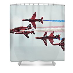 50th Anniversary 'red Arrows' Shower Curtain