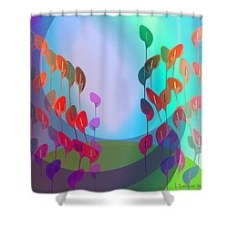 510 - Pastel Flowers ... Shower Curtain