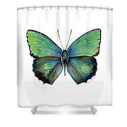 52 Arhopala Aurea Butterfly Shower Curtain
