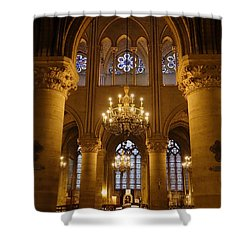 Architectural Artwork Within Notre Dame In Paris France Shower Curtain