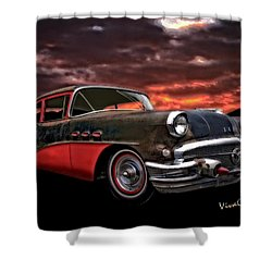 53 Buick Special Two Door Shower Curtain