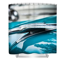 '53 Ford Bel Air Hood Ornament Shower Curtain
