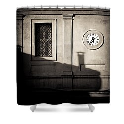 5.35pm Shower Curtain by Dave Bowman