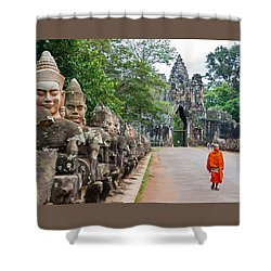 54 Gods And A Monk Shower Curtain