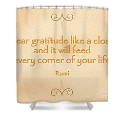 54- Rumi Shower Curtain