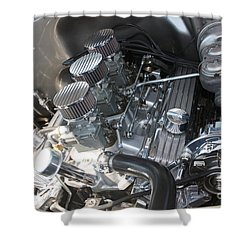 55 Bel Air Engine-8202 Shower Curtain by Gary Gingrich Galleries