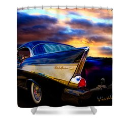 57 Belair Hardtop Cruise Is Done Shower Curtain