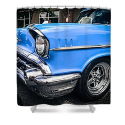 Shower Curtain featuring the photograph '57 Chevy by Ronda Broatch