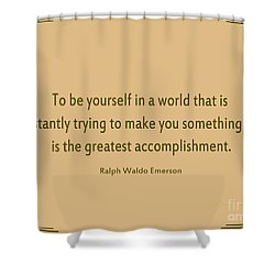 58- Ralph Waldo Emerson Shower Curtain