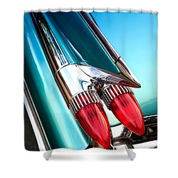 '59  Caddy Tail Fins Shower Curtain